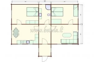 Aukštaitiškas namas JOVARĖLIS 1070
