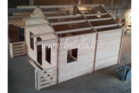 Wooden house with loft Betula119m