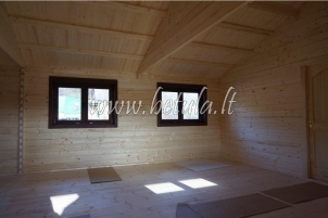 Insulated wooden house
