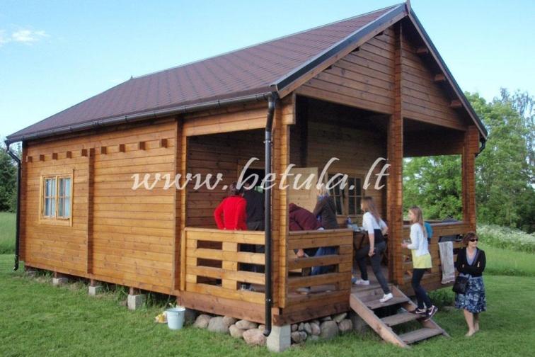 Timber Cabin Chalet Lilium With Loft Standartiniai Namai